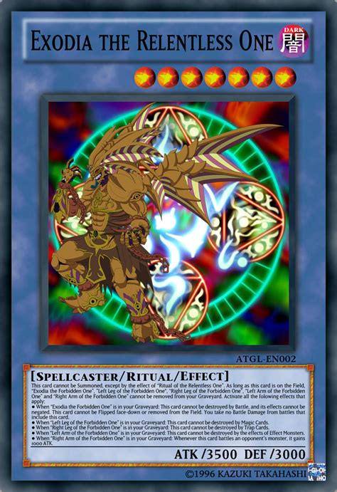 exodia the relentless one by playstationscience on deviantart