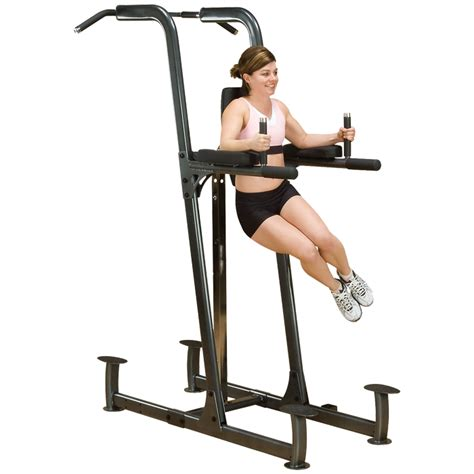 solid fusion vertical knee raise dip pull up
