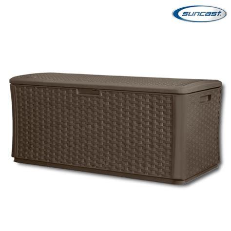 suncast bmdb13400 plastic wicker deck box