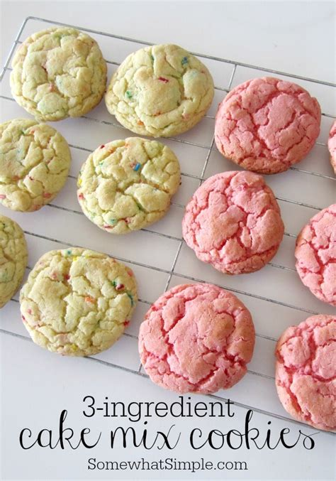 3 ingredient cake mix cookies easy and delicious