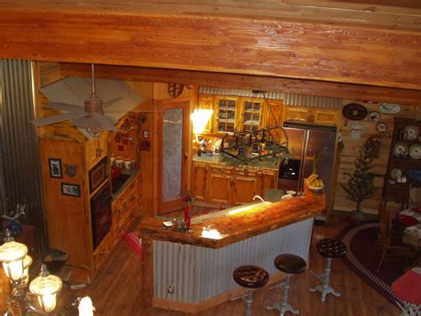 log cabin kitchen home ideas