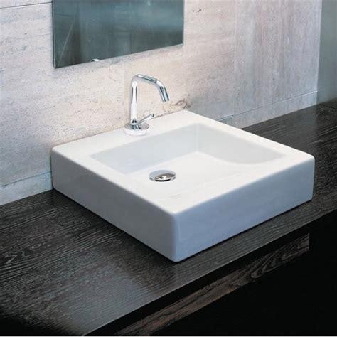 vasque quadra class carr 233 224 poser en c 233 ramique blanche
