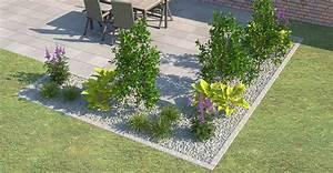 Kiesbeet Anlegen Bilder : beeteinfassung terrassenumrandung setzen obi gartenplaner ~ Markanthonyermac.com Haus und Dekorationen