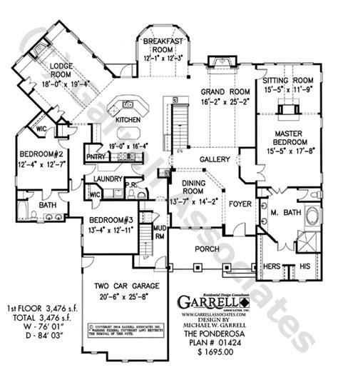 log home floor plan ponderosa ponderosa house plan 01424 floor plan mountain style