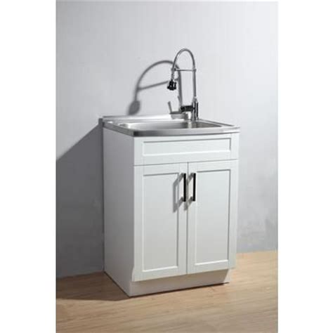 simpli home utility laundry sink with cabinet axcess485 home depot canada home laundry