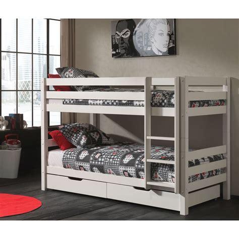 lit superpos 233 2 tiroirs de lit enfant quot pino quot blanc
