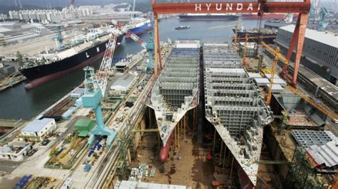 Biggest Boat Manufacturers In The World by Time Lapse Of The World S Largest Shipyard In South Korea