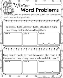 Free Math Worksheets For First Grade Word Problems