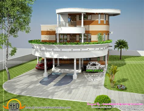 Unique House Plan In Kerala-kerala Home Design And Floor