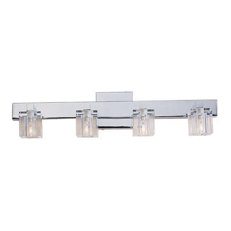 portfolio 4 light polished chrome bathroom vanity light lowe s canada