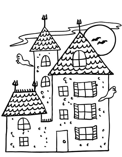 coloriage maison 195 colombage