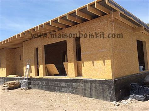 photos de chantier de maison en bois en kit