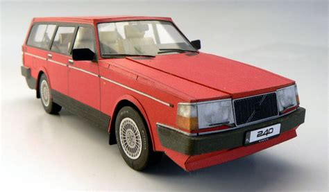 This Papercraft Volvo 240 Is Pure Lunacy [w/video]