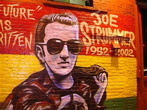 joe strummer mural graffiti east manhattan new york nyc usa