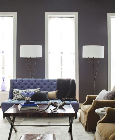 grey and purple living room paint purple sofa transitional living room amanda nisbet