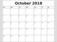 July 2018 Large Printable Calendar