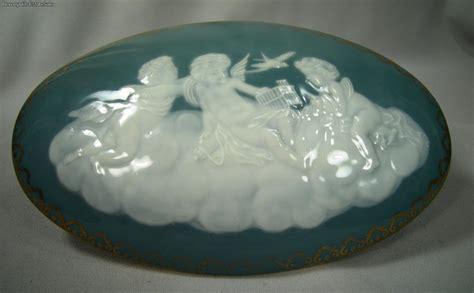 antique tharaud limoges pate sur pate porcelain cherub box ebay