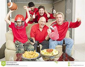 Excited Football Fans stock photo. Image of real, foam ...
