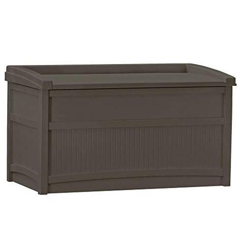 suncast outdoor patio 50 gal storage resin deck box espresso model outdoor hardware