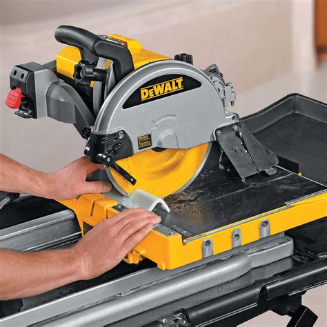 dewalt d24000s tile saw stand with dw130v mixing drill
