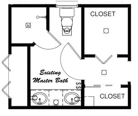 ideas for bathroom floor plans with closets