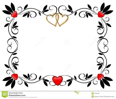 valentines d ornamental de coeurs de jour de cadre image libre de droits image 7761016