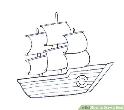 How To Draw A Old Boat by How To Draw A Boat Wikihow
