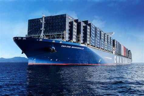 le porte conteneurs bougainville le plus grand navire de la compagnie fran 231 aise cma cgm