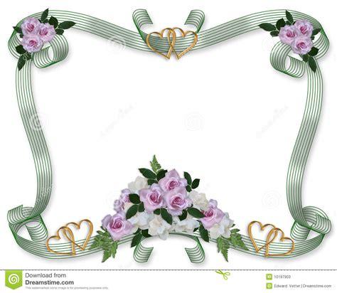 cadre de roses d invitation de mariage photos stock image 10197903