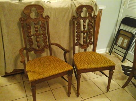 lenoir dining chairs cal 4319 set of 4 in decent shape