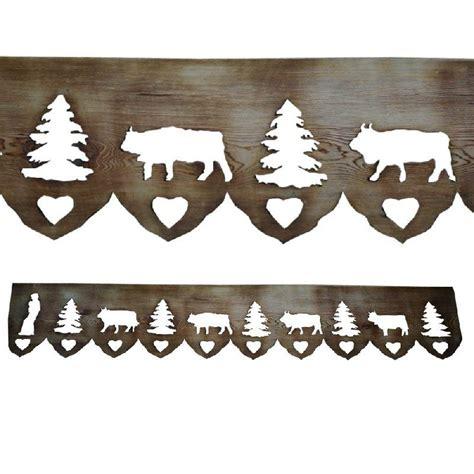 frise bois animaux de montagne les sculpteurs du lac
