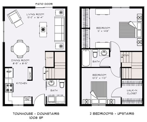 Townhouse Floor Plans Designs Door Chest Rzr 900 Doors Sliding Glass Company Cabinets French Fridge Stained Monogram Front Mat Home Depot Refrigerator