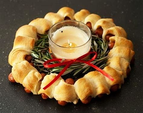 Christmas Appetizer Sausages Wreath