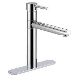 delta trinsic single handle standard kitchen faucet in chrome 1158lf the home depot