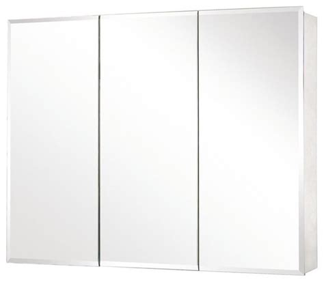 pegasus sp4590 48 quot x 31 quot tri view beveled mirror medicine cabinet traditional bathroom