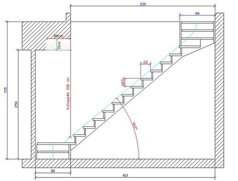 sur 233 l 233 vation calcul escalier 2 quarts tournant