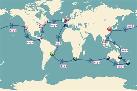Catamaran Around The World Race by Sailing World Route World Sailing Route Map Sailing