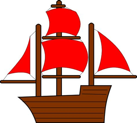 Red Boat Clipart by Red Pirate Ship Clip Art At Clker Vector Clip Art