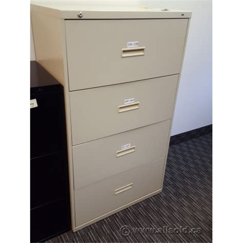 hon beige 4 drawer lateral file cabinet locking allsold ca buy sell used office furniture