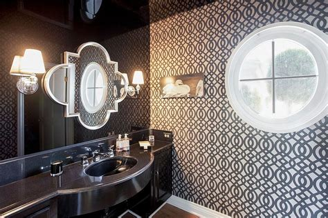 20 Powder Rooms In Black And White Message Baby Shower Card Note Photos Of Showers Blue Centerpieces Free Coed Games Mustache Invitations For Idea Having A