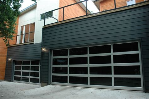 Anodized Aluminum Frame Clear Glass Garage Doorsectional