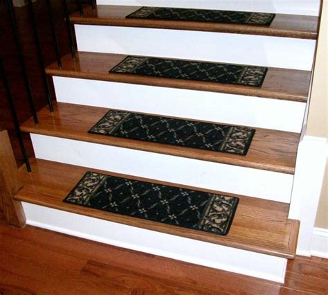 wood stair treads with tile risers stairs design ideas