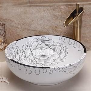 Waschbecken Arbeitsplatte Bad : online kaufen gro handel keramik waschbecken schalen aus china keramik waschbecken schalen ~ Markanthonyermac.com Haus und Dekorationen