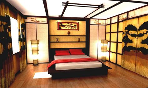 Asian Inspired Bedrooms, Traditional Japanese Bedroom