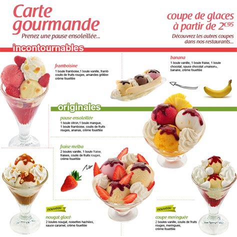 crescendo restaurant la carte des desserts et glaces