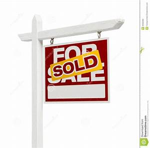 Sold For Sale Real Estate Sign With Clipping Path Stock ...