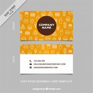 Sketches food business card Vector | Premium Download