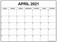 April 2021 calendar 56+ calendar templates of 2021