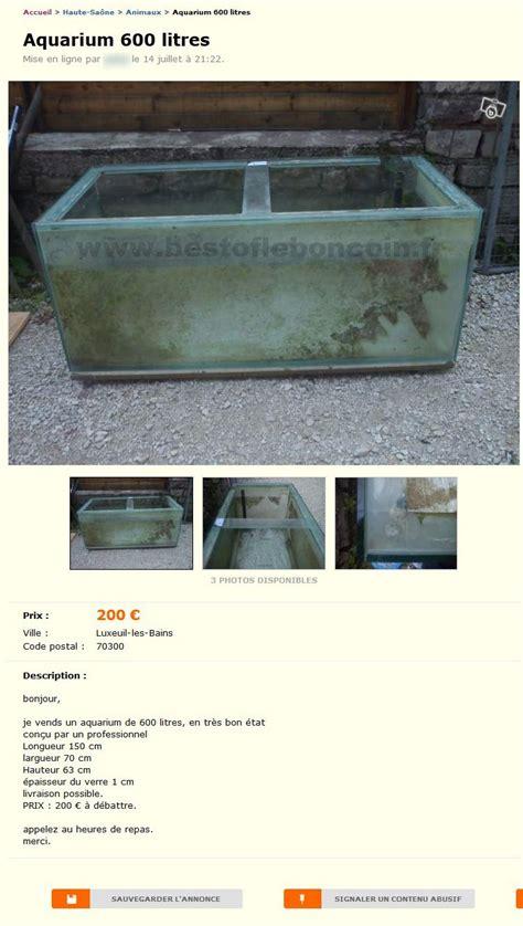 aquarium 600 litres animaux franche comt 233 best of le bon coin