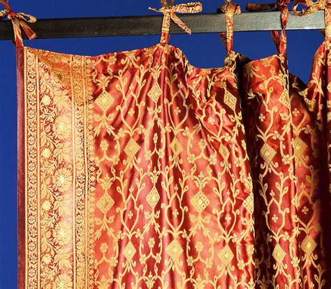 monsooncraft indian sari fabric curtains and panels